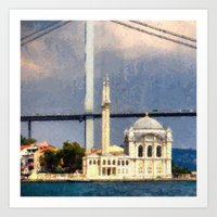 Dolmabahçe Mosque Art Print