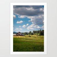 farm Art Prints featuring Farm by Pete Kurkowski