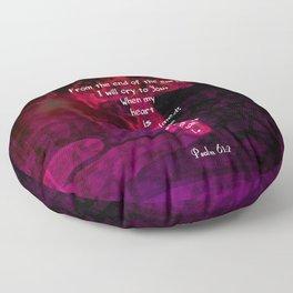 Psalm 61:2 Bible Verse Inspirational & Beautiful Christian Art Floor Pillow