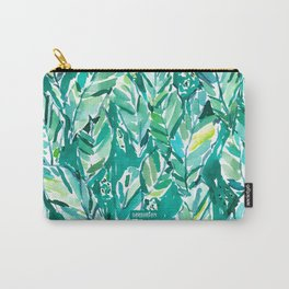 BANANA LEAF JUNGLE Green Tropical Carry-All Pouch
