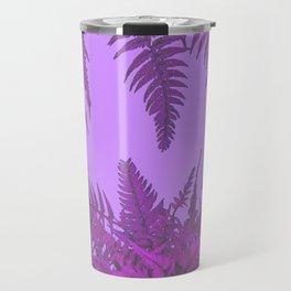 DECORATIVE PURPLE-LILAC GREY ORIENTAL FERNS GARDEN ART Travel Mug