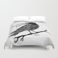 raven Duvet Covers featuring Raven by Mindy Robinson