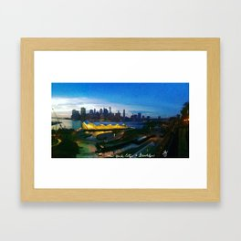 New York City as viewed from the Beautiful Brooklyn Heights Framed Art Print