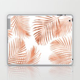 Rose Gold Palm Leaves Laptop & iPad Skin