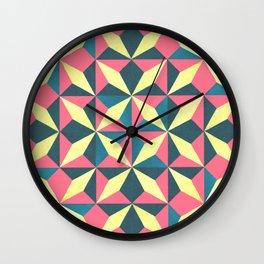 diamond yellow pedals Wall Clock