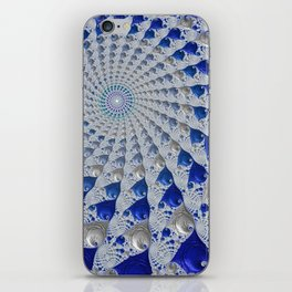 Tunnel Vision Blue iPhone Skin