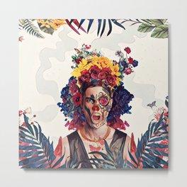 Floral man Metal Print
