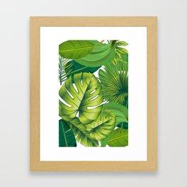 Green leaves palms banana leaf tropical nature art print home decor Framed Art Print