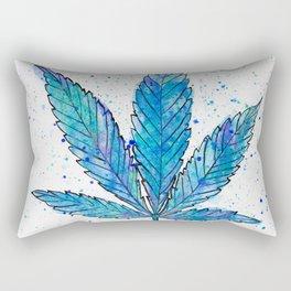 Canna Be Blue Rectangular Pillow