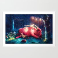 wild things Art Prints featuring WILD THINGS by Ryan Laing