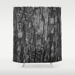 Bark VI Monochrome Shower Curtain