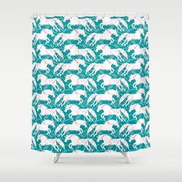 Jumping Unicorns Shower Curtain