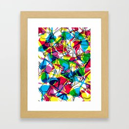 Clubmaster Shuron Glasses Party Framed Art Print