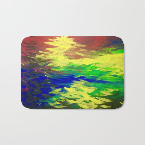 Peacock. Mimosa Inspired Primary Colors. Peacock. Bath Mat