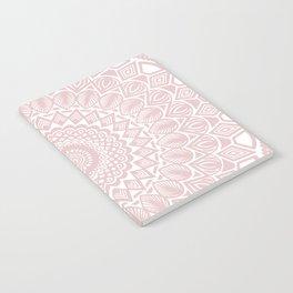 Light Rose Gold Mandala Minimal Minimalistic Notebook