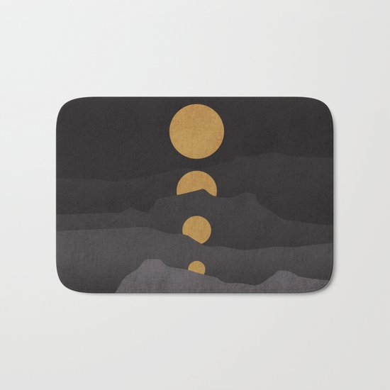 Rise of the golden moon Bath Mat