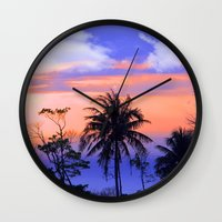 thailand Wall Clocks featuring thailand by mark ashkenazi