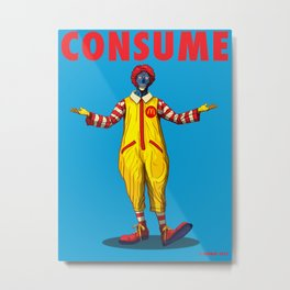 CONSUME: Fast Food's Killer Clown Metal Print