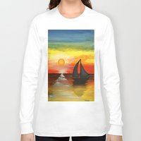 tequila Long Sleeve T-shirts featuring Tequila Sunset by William Gushue