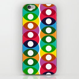 Geometric Pattern #64 (colorful bubbles) iPhone Skin