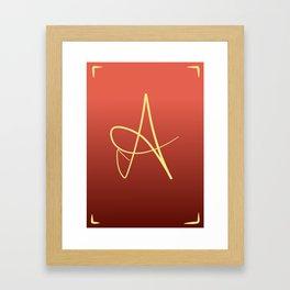 A Initial Framed Art Print