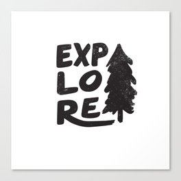 Explore Canvas Print