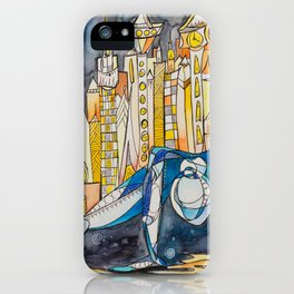 Dancing with the Weight of the World iPhone Case