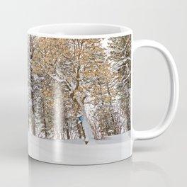Open Bluebird Birdhouse in Winter Woodland Coffee Mug