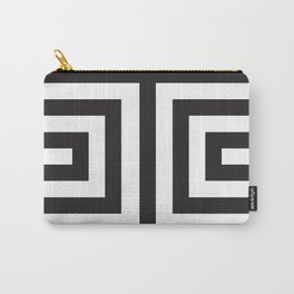 Black Greek Stripes Carry-All Pouch