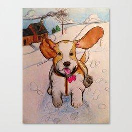 Sadie the Sled Dog? Canvas Print