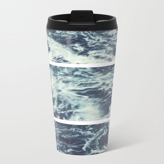 Saltwater Tryptych Metal Travel Mug