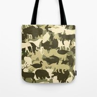 camouflage Tote Bags featuring Camouflage by Diego Tirigall