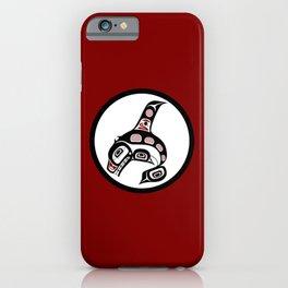 Northwest Pacific coast Haida art Killer whale iPhone Case