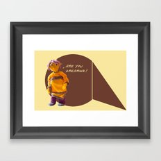 are you dreaming? Framed Art Print