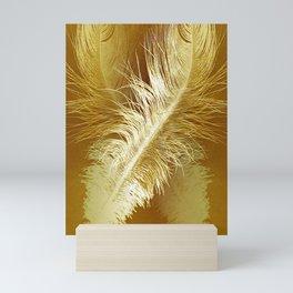 Golden Ostrich Mini Art Print