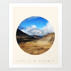 Life Is A Journey (Colour)  Art Print