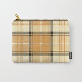 Gold Tartan Carry-All Pouch