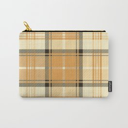 Gold Tartan Carry-All Pouch