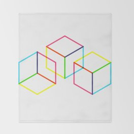 Cubes Throw Blanket