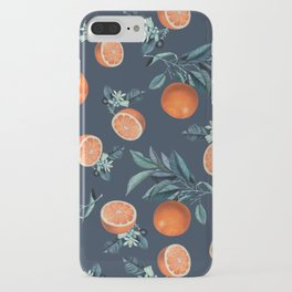 Lemon and Leaf Pattern VI iPhone Case