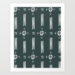 Bountiful Mud Cloth Art Print