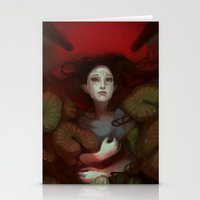 dragon age Stationery Cards featuring Dragon Age: Blood Lotus by mureh