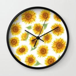 Sunflowers Everywhere - Yellow Wall Clock