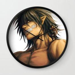 Eren and Mikasa Wall Clock