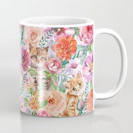 Kittens in flowers Coffee Mug