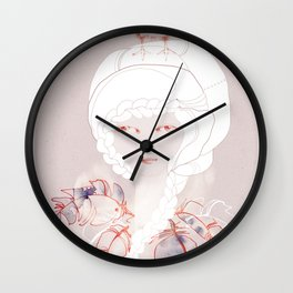Portrait with Chick Wall Clock
