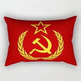 Hammer and Sickle Textured Flag Rectangular Pillow