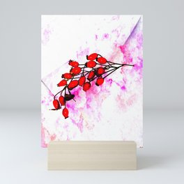 Rose Hips Mini Art Print