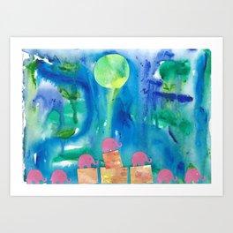 9 Penny the Pink Elephant Art Print