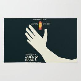 Quién sabe? Movie poster with Klaus Kinski, Gian Maria Volonté, Lou Castel, by Damiano Damiani Rug